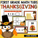 Math Centers-Thanksgiving First Grade Common Core Activities