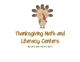 Thanksgiving Math and Literacy Center Mini-Unit