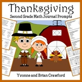 Thanksgiving Math Journal Prompts (2nd grade) - Common Core