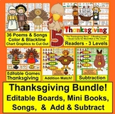 Thanksgiving Bundle: Readers, Poems, Songs, Addition, Subt