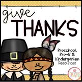 Thanksgiving: Preschool, Pre-K and Kindergarten Resources