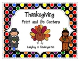 Thanksgiving Print and Go Centers