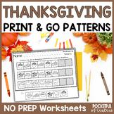 Thanksgiving Printable Patterns Packet
