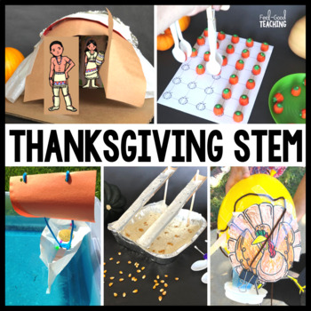 Thanksgiving STEM Design Challenge: 5-in-1 Bundle