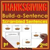 Thanksgiving Sight Word Scrambled Sentences