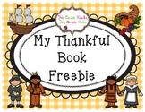Thanksgiving Thankful Book