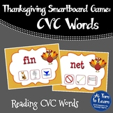 Thanksgiving Themed CVC Words Game for Smartboard or Prome