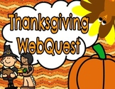 Thanksgiving WebQuest (Printable Booklet)