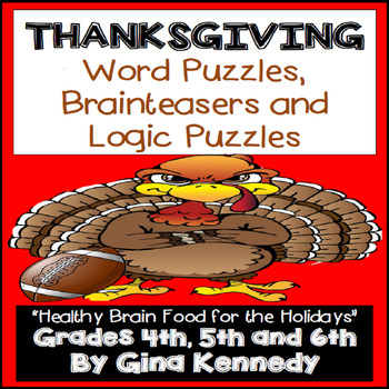 Thanksgiving Word Puzzles, Brain Teasers and Logic Puzzles
