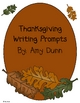 Thanksgiving Writing Prompts- Half Page