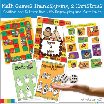 Thanksgiving and Christmas Addition and Subtraction with R