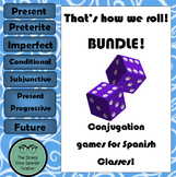 Spanish dice game for conjugation practice: That's how we ROLL!