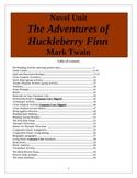The Adventures of Huckleberry Finn, Mark Twain, 66 page Unit