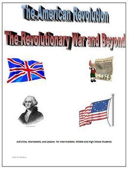 The American Revolutionary War Unit: Activities, Worksheet