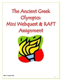 The Ancient Greek Olympics: Mini WebQuest & R.A.F.T Assignment