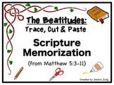 The Beatitudes: Trace, Cut & Paste Scripture Memorization
