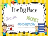 The Big Race {spelling, grammar, and phonics practice}