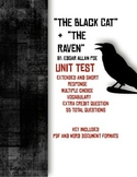 """""""The Black Cat"""" and """"The Raven"""" Test-- 55 Questions"""