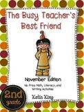 The Busy Teacher's Best Friend: November Edition SECOND Grade