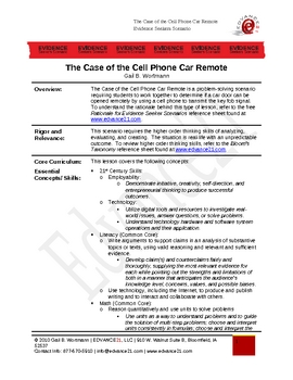 The Case of the Cell Phone Car Remote