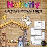 The Christmas Story Nativity, Jesus Coloring & Writing Pag