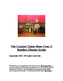 """The Crazy Talent Show"" A Reader's Theatre Script [Theater"