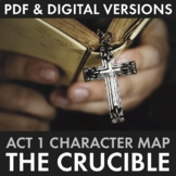 The Crucible Act 1 Character Map Review Activity for Arthu