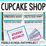 The Cupcake Shop {Middle School Math Project}