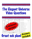 The Elegant Universe Video questions - Great Sub Plan!