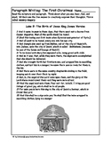 The First Christmas Paragraph Writing for Grades 3 to 5