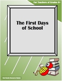 The First Days of School - What You'll Need!