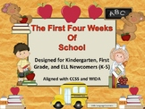 The First Four Weeks of School:Early Primary Unit Aligned