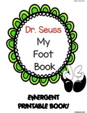 "The Foot Book"" ... A Pairing Emergent Reader Book! *read to sel"
