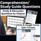 Giver Literature Guide: Comprehension and Analysis Bundle