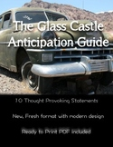The Glass Castle by Jeannette Walls  Anticipation Guide