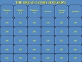 The Great Gatsby by Scott F. Fitzgerald PowerPoint Jeopardy Game