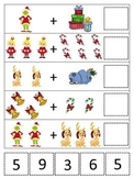 The Grinch Christmas themed Math Addition preschool curric