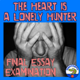 The Heart is a Lonely Hunter Final Test - Essay Examination
