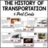 The History of Transportation Montessori Timeline 3-part N