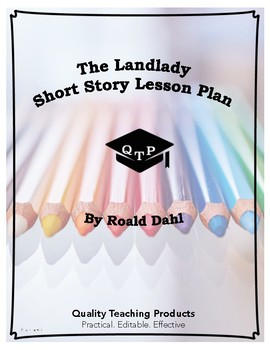 The Landlady by Roald Dahl Complete Lesson Plan Bundle, Wo
