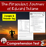 The Miraculous Journey of Edward Tulane Comprehension Test