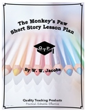 The Monkey's Paw by W. W. Jacobs Lesson, Worksheets, Key,