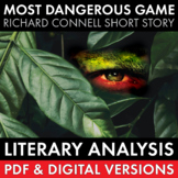 The Most Dangerous Game, 3-day lesson materials, lit. anal