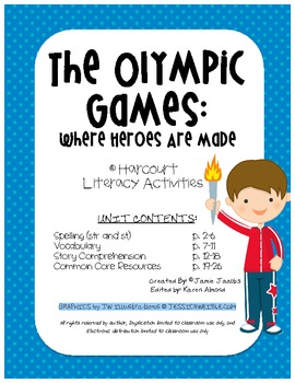 The Olympic Games: Where Heroes are Made (Harcourt Supplem