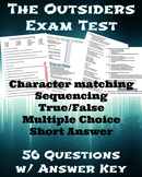 The Outsiders Final Test with Answer Key