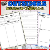 The Outsiders - Guided Reading packet for Chapters 1-3 (In