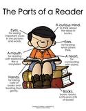 The Parts of a Reader:  Boy  {Melonheadz Clipart Version}