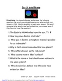 The Planets (Unit Extension Handouts)