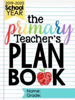 The Primary Teacher's Plan Book {Editable}