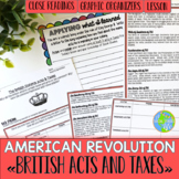American Revolution British Acts & Taxes